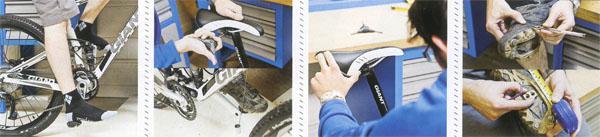 1 Set the saddle height 2 Sort the saddle set back 3 Set the saddle angle 4 Set the base XC cleat position
