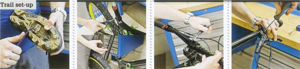 13. Tune cleats for trail use 14. Set saddles for aggro 15. Choose the correct trail stem 16. Tweak levers for trail use