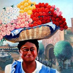Cape Flower Seller by artist Harry van Dine