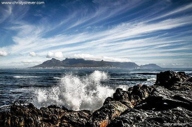 Cape Town from Robben Island by Christy Strever