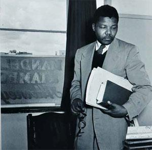 Jürgen Schadeberg's Nelson Mandela in his Law Office
