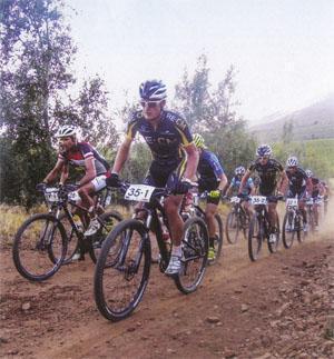 Lourens Luus (RE:CM) and Nico Pfitzenmaier. Lead the pack.