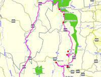 Map of scenic route in Mpumalanga