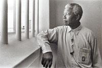 Nelson Mandela at Robben Island