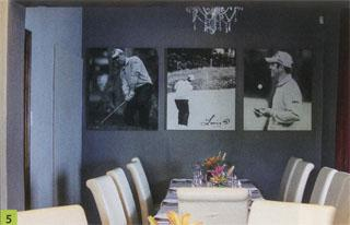 5. Packed with golfing memorabilia, Louis Oosthuizen's restaurant in Mossel Bay is a must-see.