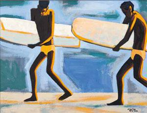 Peter Clarke's Surfers at Strandfontein