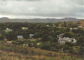 The view from the reserve over Greyton village