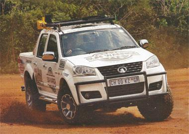 Heine Engelbrecht's GWM Steed 5 is a very eye-catching vehicle.