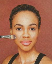 Apply your foundation using a brush or sponge.