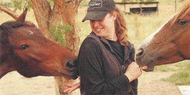 Glencoe's own horse whisperer, Elize Pieters.
