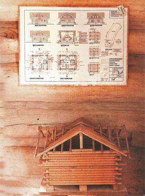 Planning is key and involves a model made of dowels and properly drawn plans.
