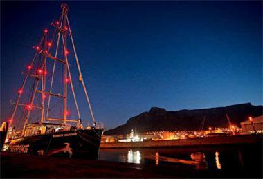 Rainbow Warrior III at berth in Cape Town
