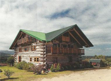 The log home built by Cathy and Roy Trembath in Wilderness Heights.