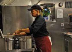 Wendy Jennings ships cook