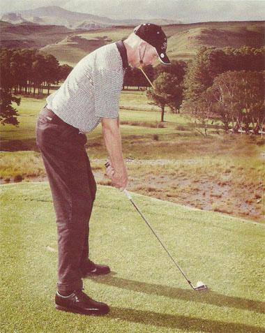 PGA professional John Dickson illustrates how to use a Chinrite, a training aid developed to improve your posture.