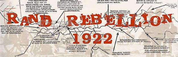 1922 Miners Strike on the Witwatersrand