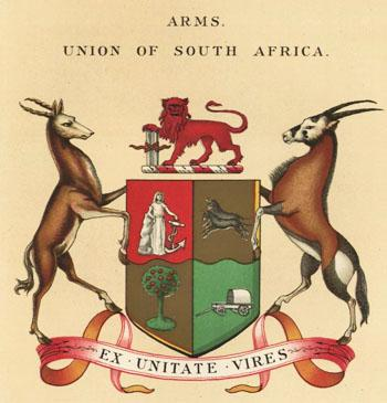 Arms of Union of South Africa 1910