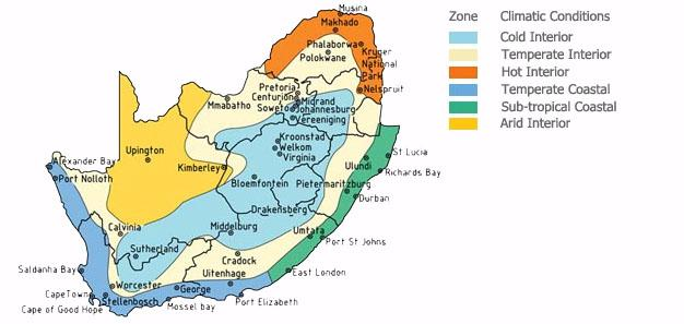Climate Zones in South Africa