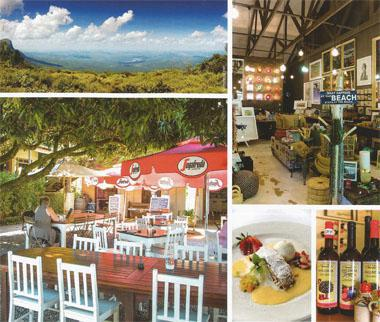 On White River's doorstep are the wonders of the Panorama Route, such as the views from God's Window ; pick up prints, art and jewellery at Courtyard Framing and Living in the Casterbridge Lifestyle Centre; Olivers is the perfect place for golfers to stay - rooms and the charming function gazebo look out onto White River Country Club; practise your swing at the country club, just outside of town; Rottcher Wineries' range of Avalencia tastes like orange-flavoured sherry and is delicious on its own or over ice cream; tuck into Austrian-inspired fare such as apple strudel at Olivers; Casterbridge Lifestyle Centre is a far cry from city malls.