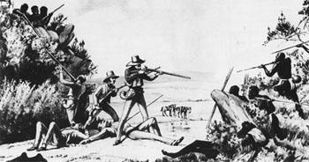 Settlers and Xhosas fighting over land in South Africa