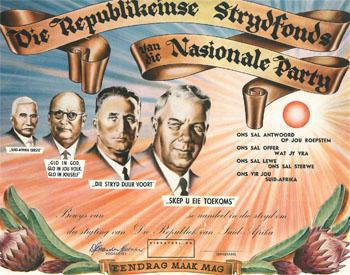 The National Party formation in South Africa