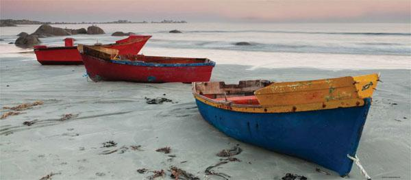 Fishing boats on the beach at Paternoster