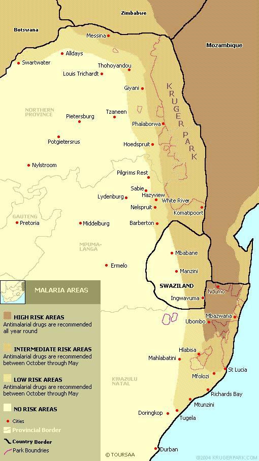 Malariae Malaria Map Malaria Map of South Africa
