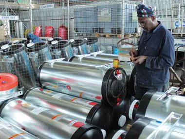 Holder's geyser factory has been manufacturing hot water cylinders for around 20 years.