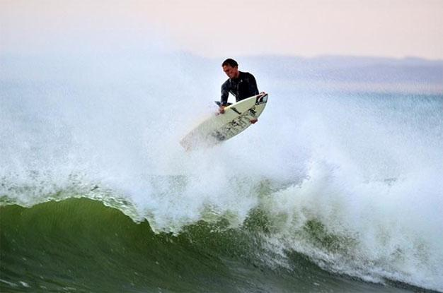 Surfing in Namibia