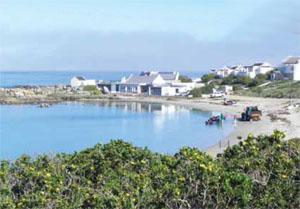 The picturesque Weskusplek restaurant at Jacobsbaai.