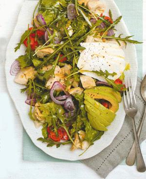 Artichoke and robiola salad with thyme dressing