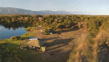 Enjoy sundowners overlooking the Breede River