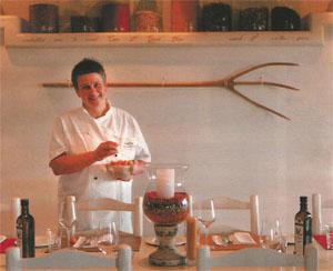 Chef Marion Kumpf at the Spice Route restaurant