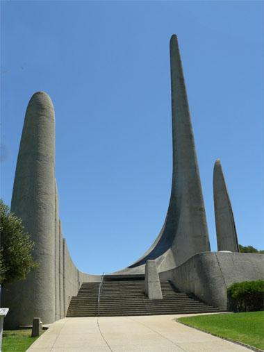 The imposing entrance to the Taalmonumnet on the slope of Paarl Mountain