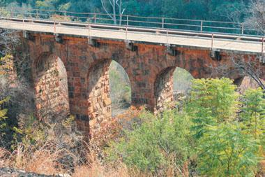 The old railway bridge at Waterval Boven was the scene of one of the worst railway disasters in South Africa