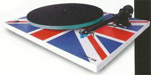 REGA RP3 custom Union Jack turntable