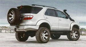 A customer in Durban sent his Toyota Fortuner by carrier service to Maniacs workshop in Cape Town