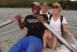 Local 'ferries' take hikers across rivers too deep to wade through