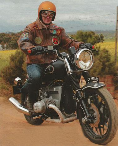 Freek de Villiers takes his home-built cafe racer, dubbed Franken Beemer, for a spin through the Western Cape countryside.