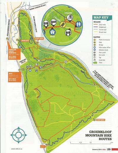 Groenkloof Mountain Bike Routes