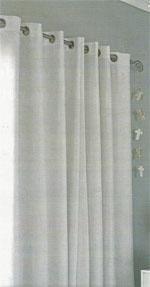 Linen eyelet curtains