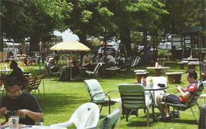 Post-ride bliss at Lady Marmalade's Tea Garden.