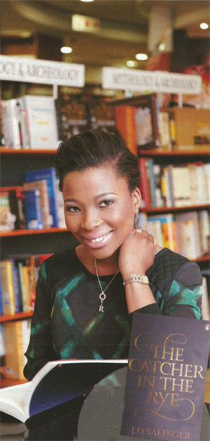Refiloe Mpakanyane News anchor at Metro FM - reading Catcher in the Rye by J.D Salinger