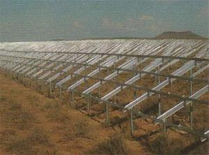 The substructure required to support all the solar modules is a whopping 156 km long