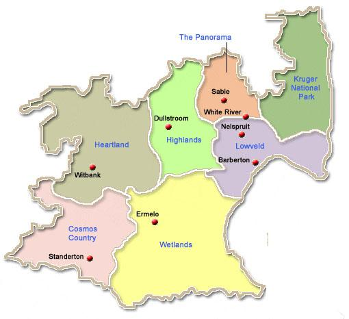 Mpumalanga Map Regions Mpumalanga Map of Regions