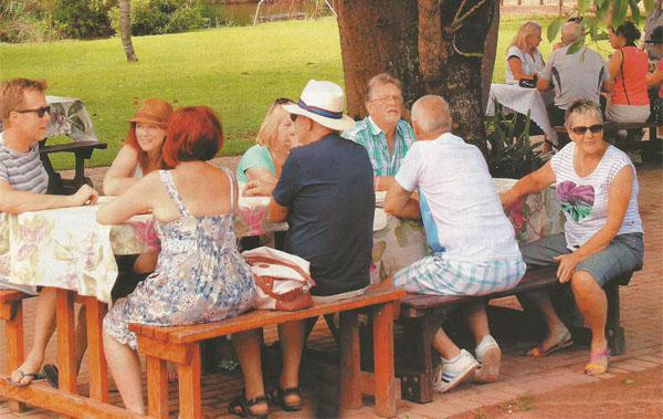 Enjoy good food and coffee in the shady garden at Sabie Valley Coffee.