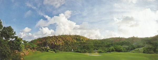 Island golf at its best - the par-70 Lemuria course is the only 18-hole layout in the Seychelles.