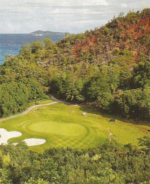 The par-three 15th hole at Lemuria is the feature hole, offering the best views on the course.