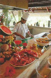 The tropical island has no shortage of fresh fruit.