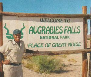 Lesedi Masiza gives guests a warm welcome at Augrabies Falls National Park, the 'Place of Great Noise'.